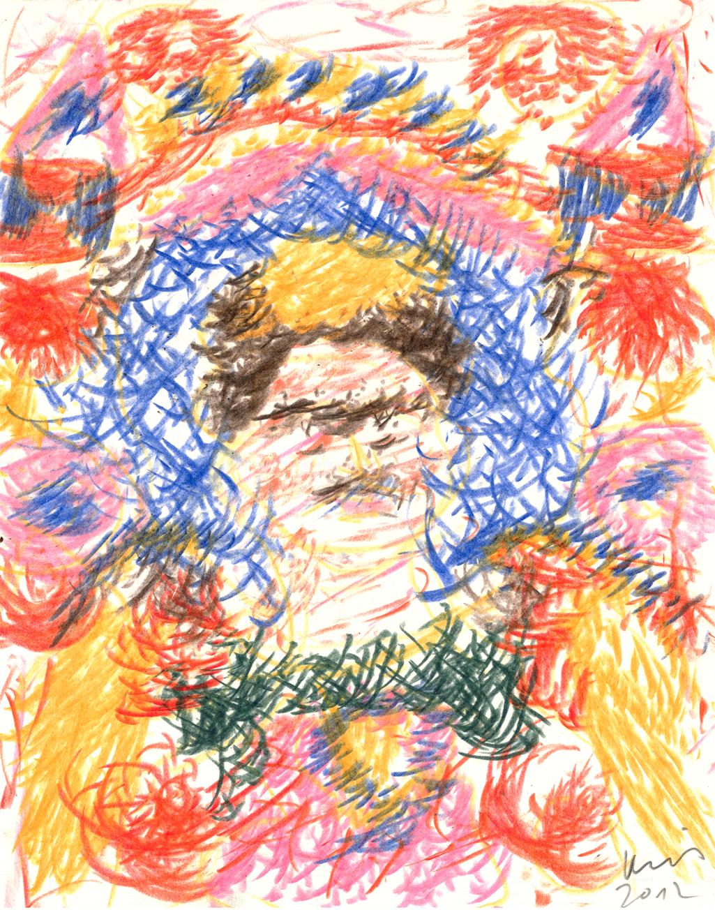O.T. ( Frida II ), 2012  Buntstift auf Papier, 35.5x27cm