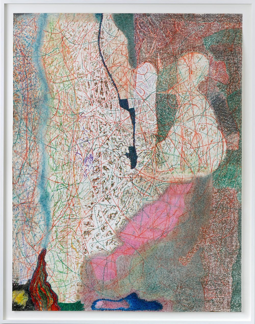 O.T. ( Come On Baby Light My Fire! ), 2017  Buntstift auf Papier, 205x160cm