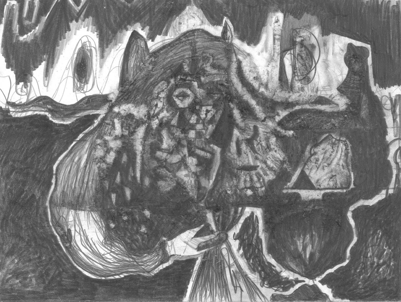 O.T., 2013  Bleistift auf Papier, 35.5x26cm