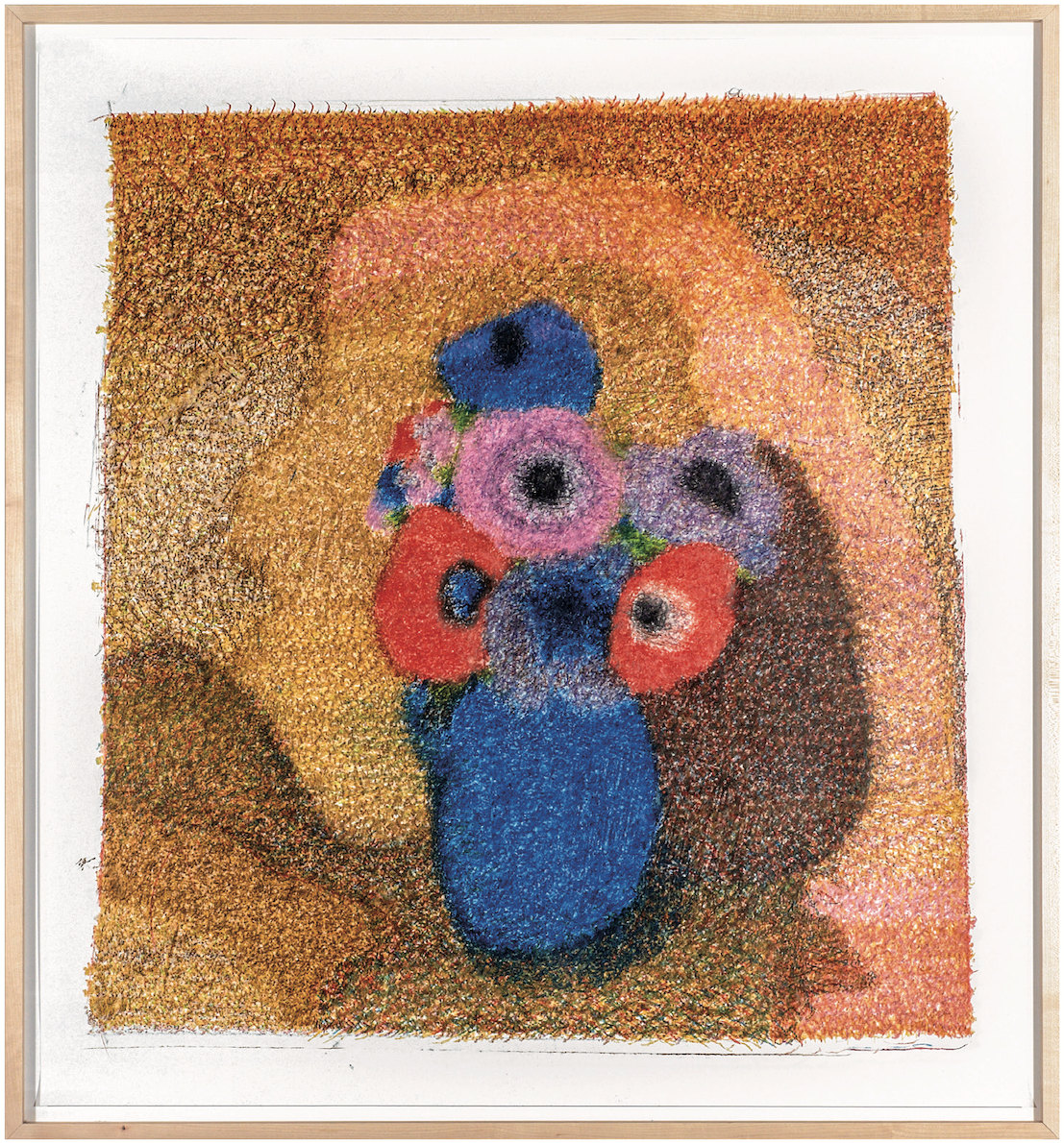 O.T., 2012  Buntstift auf Papier, 92x100cm