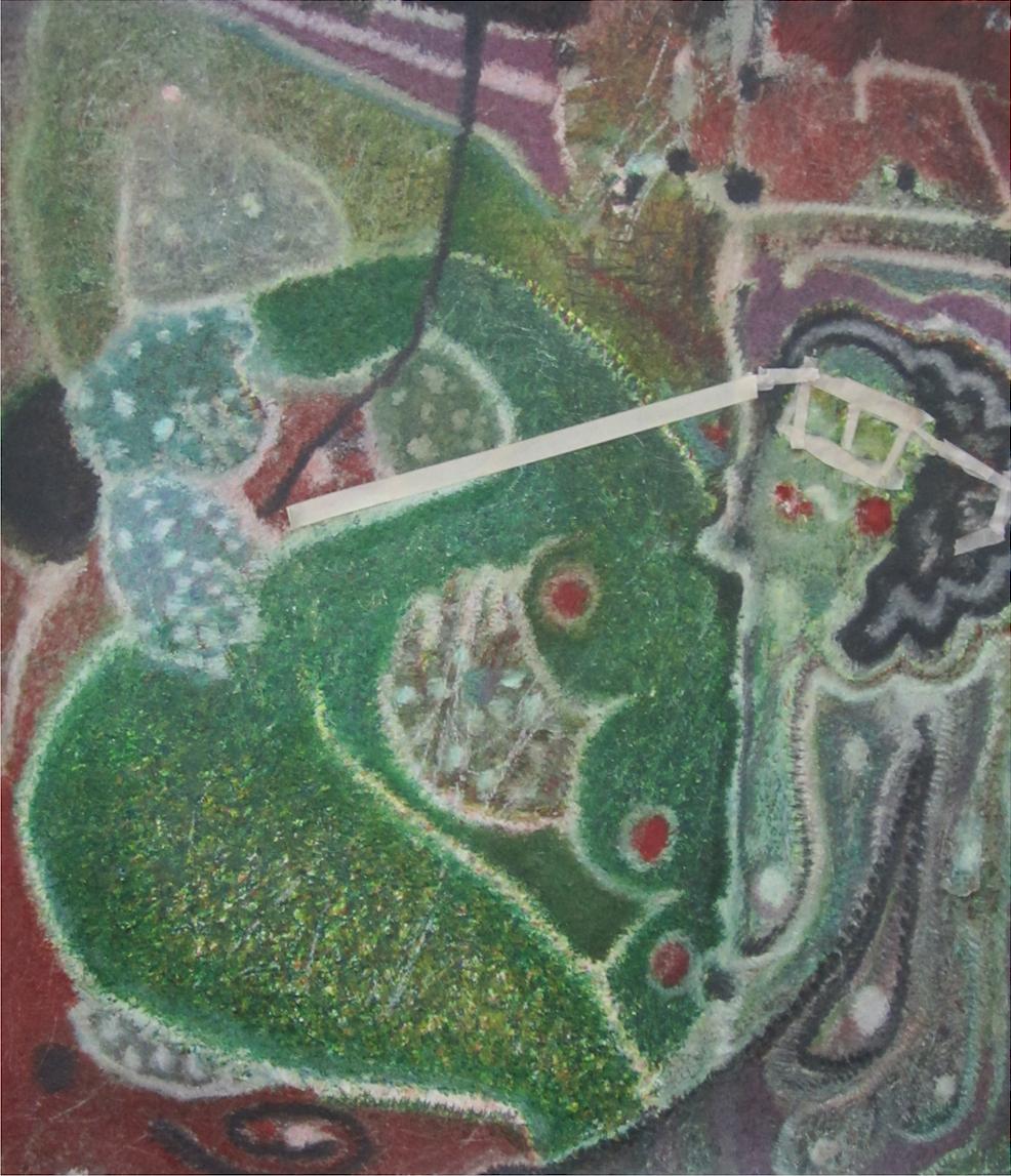 O.T. (Diana und Aktion), 2014, Buntstift auf Papier, 110x130cm