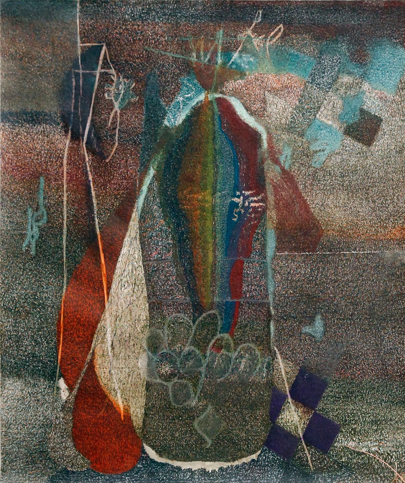 Jimi Hendrix I , 2014  Buntstift auf Papier, 260x210cm