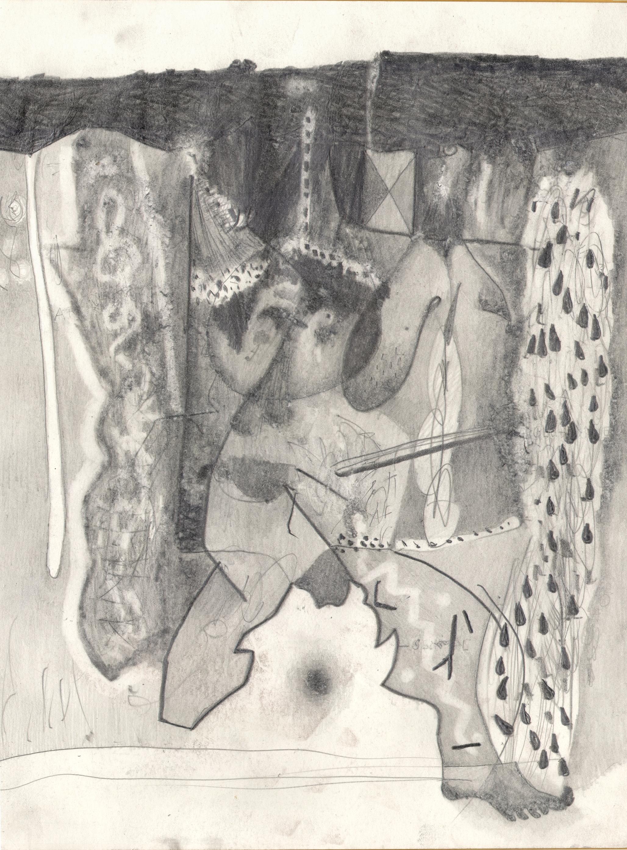 O.T. ( Allegorie Musik ), 2016  26x35.5cm, Bleistift auf Papier