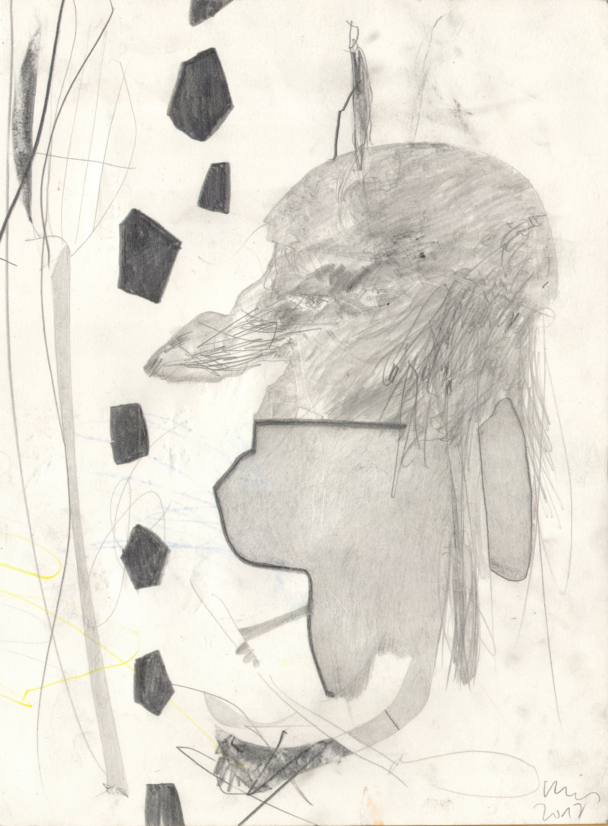 O.T. ( Person ), 2017  Bleistift auf Papier, 26x35.5cm