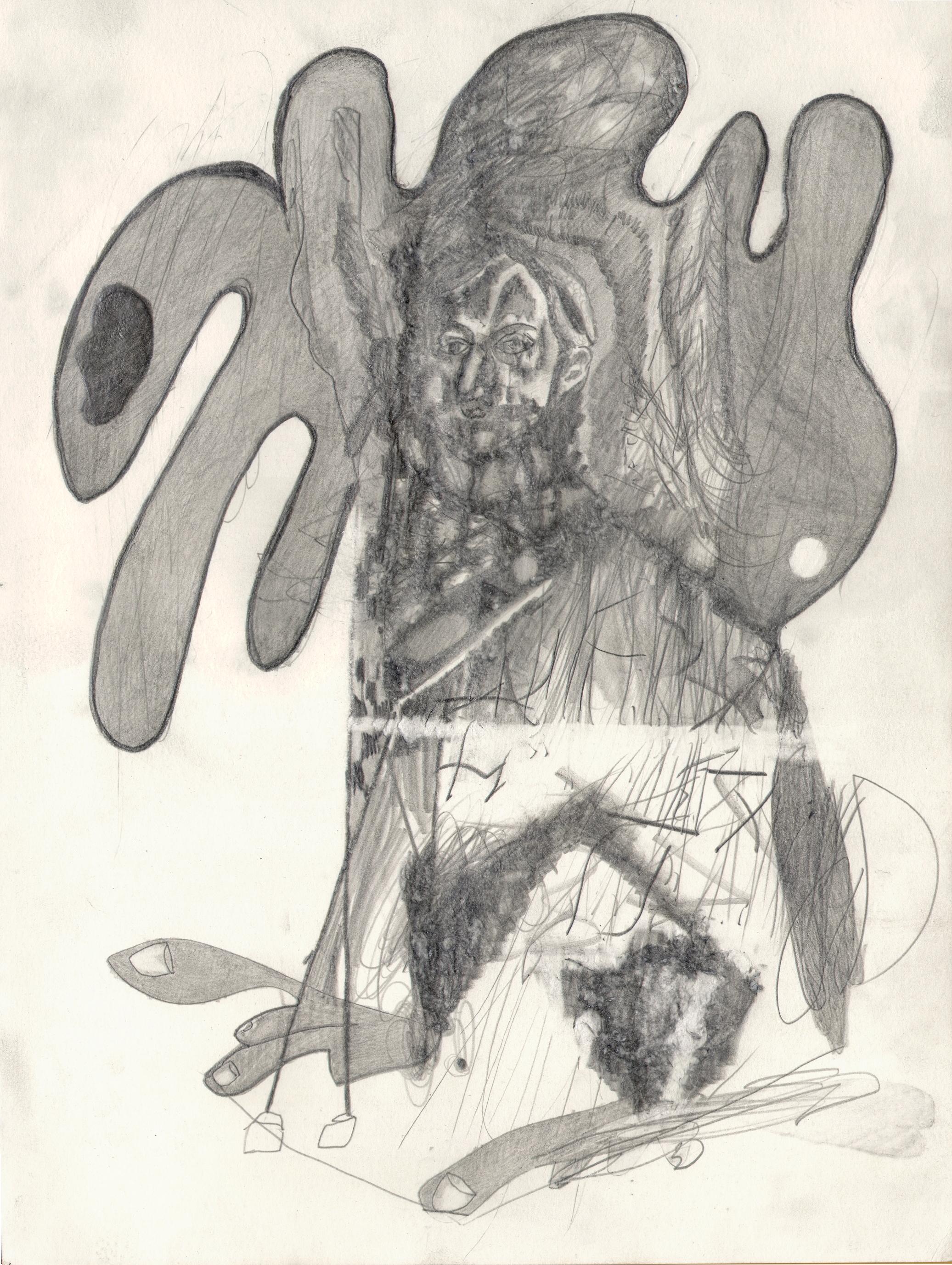 O.T. ( Mozart ), 2017  Bleistift auf Papier, 26x35.5cm