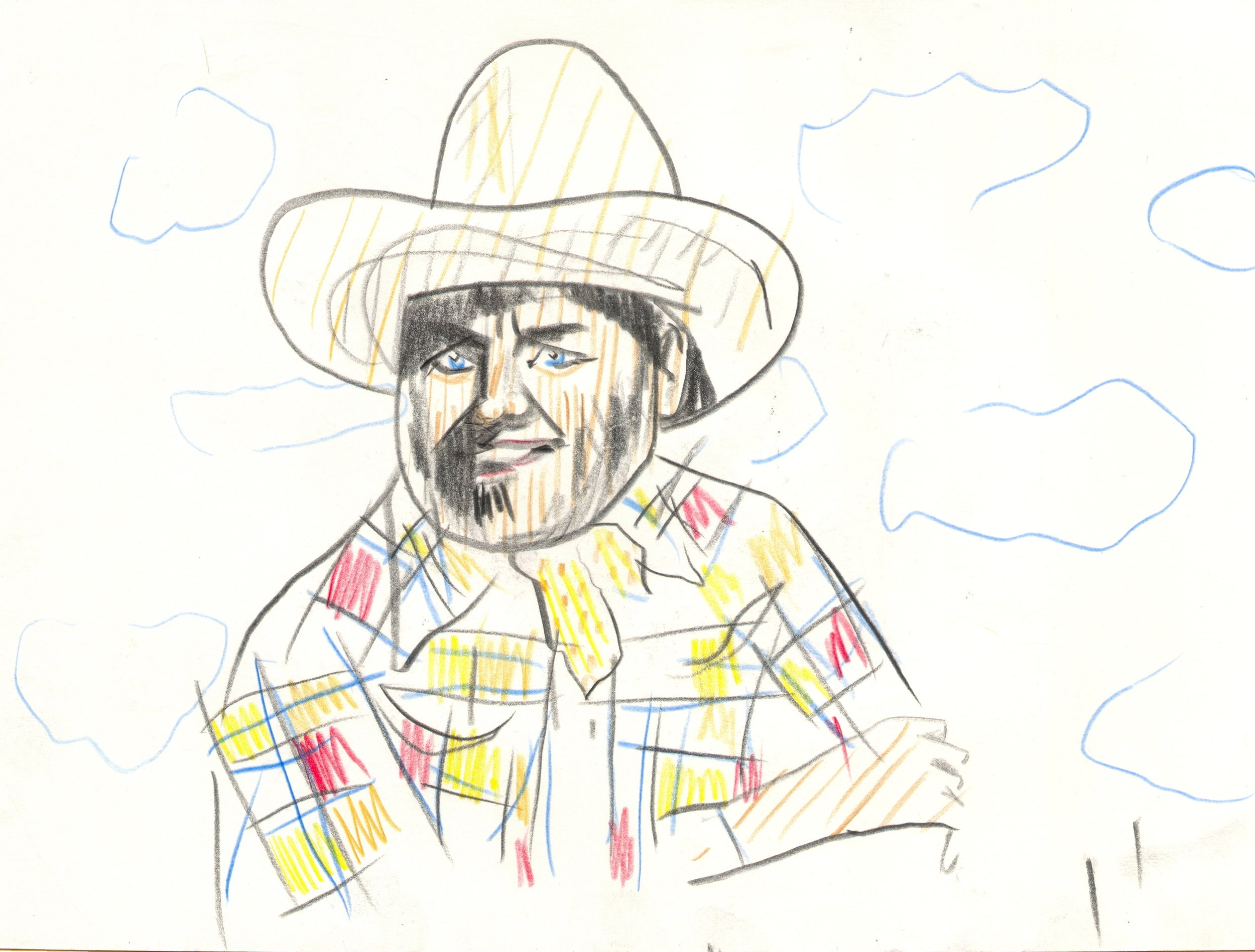 O.T. ( Serie Cowboys II ), 2016  Bleistift auf Papier, 26x35.5cm