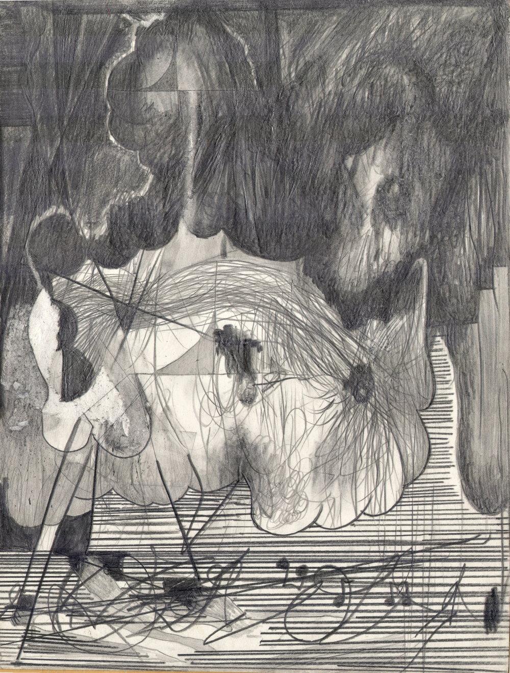 O.T, 2012  Bleistift auf Papier, 26x35.5cm