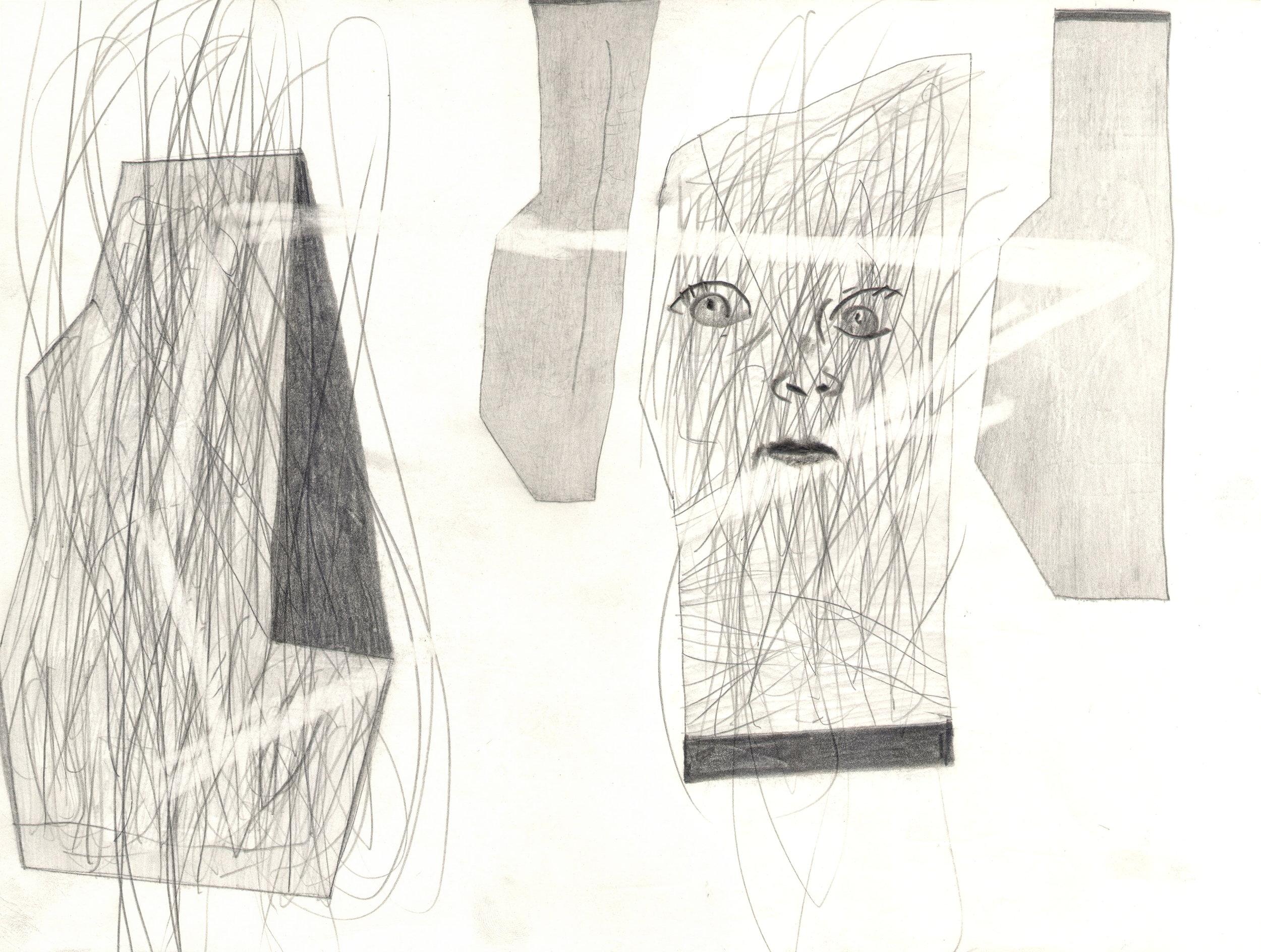 O.T. ( Allegorie Psychologie ), 2014  26x35.5cm, Bleistift auf Papier