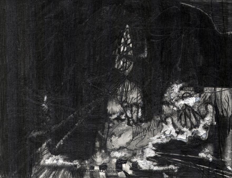 O.T. ( Die Dunkelheit ), 2010  Bleistift auf Papier, 27x35.5cm