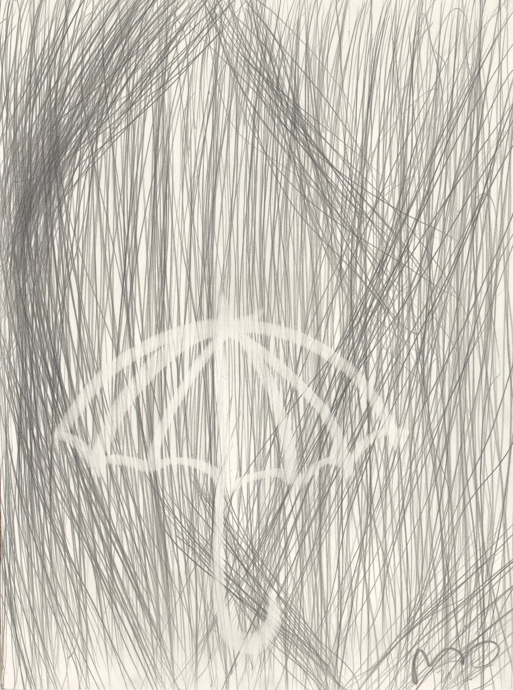 O.T. ( Abstraktion ), 2015  26x35.5cm, Bleistift auf Papier