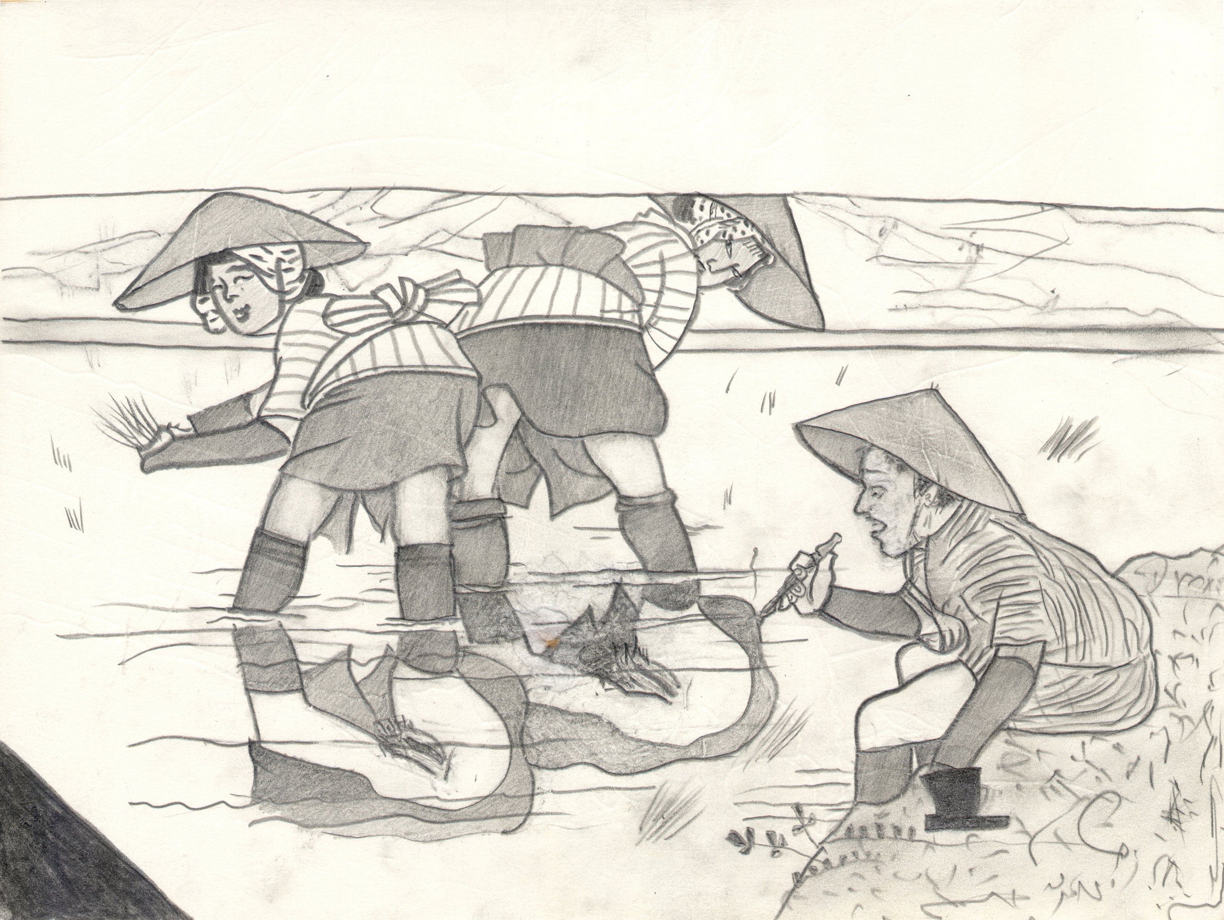 O.T. ( Serie Shunga II ), 2014  26x35.5cm, Bleistift auf Papier