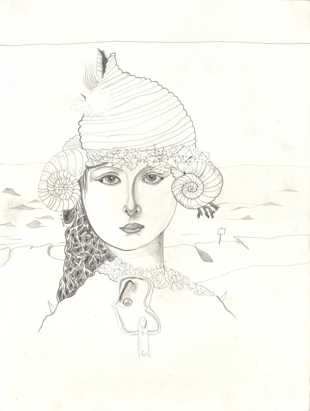 O.T. ( Manierismus I ), 2014  26x35.5cm, Bleistift auf Papier