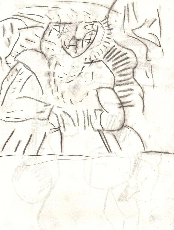 O.T. ( Frau ), 2014  Bleistift auf Papier, 26x35.5cm
