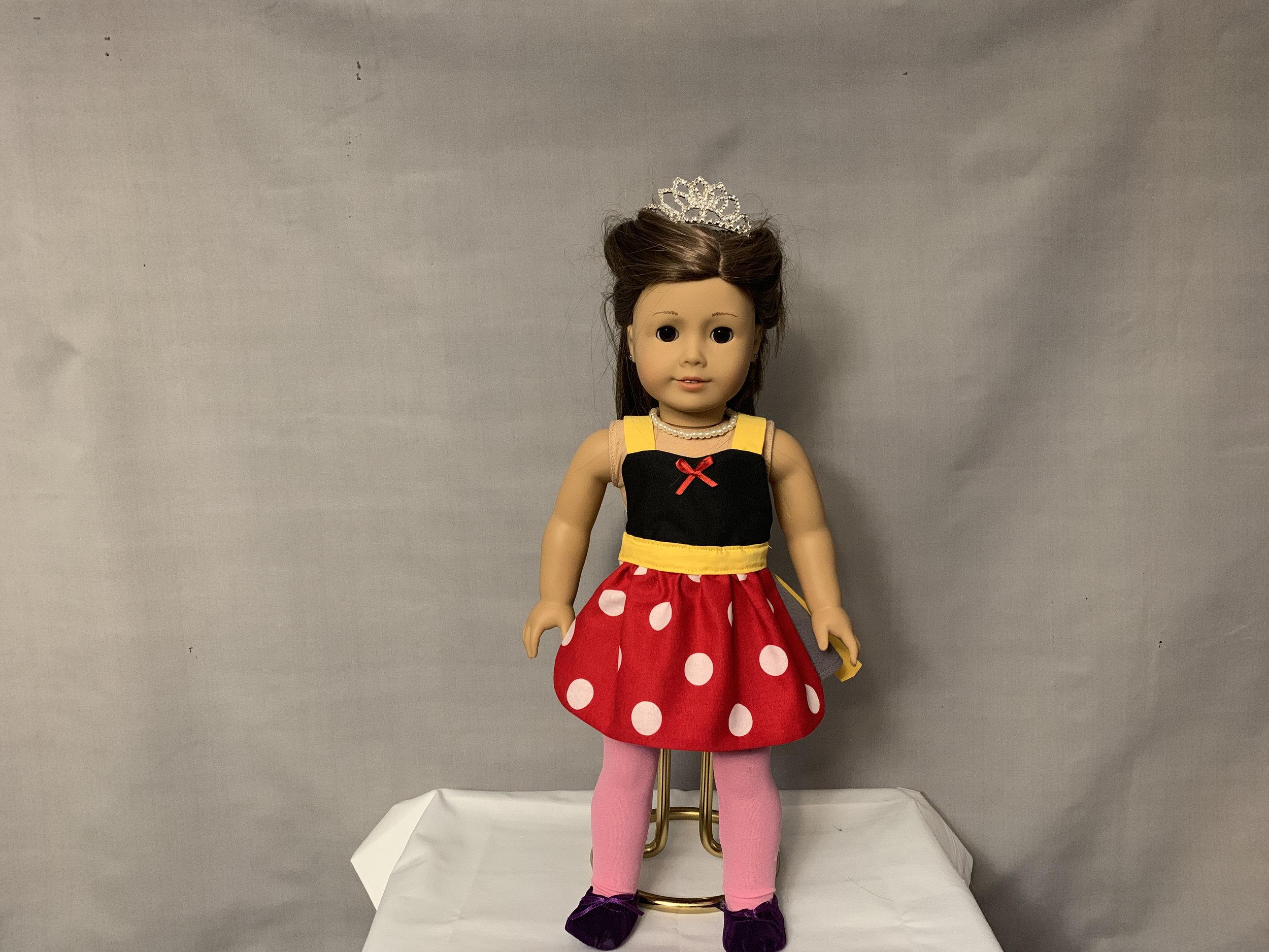 Red Minnie Doll Apron