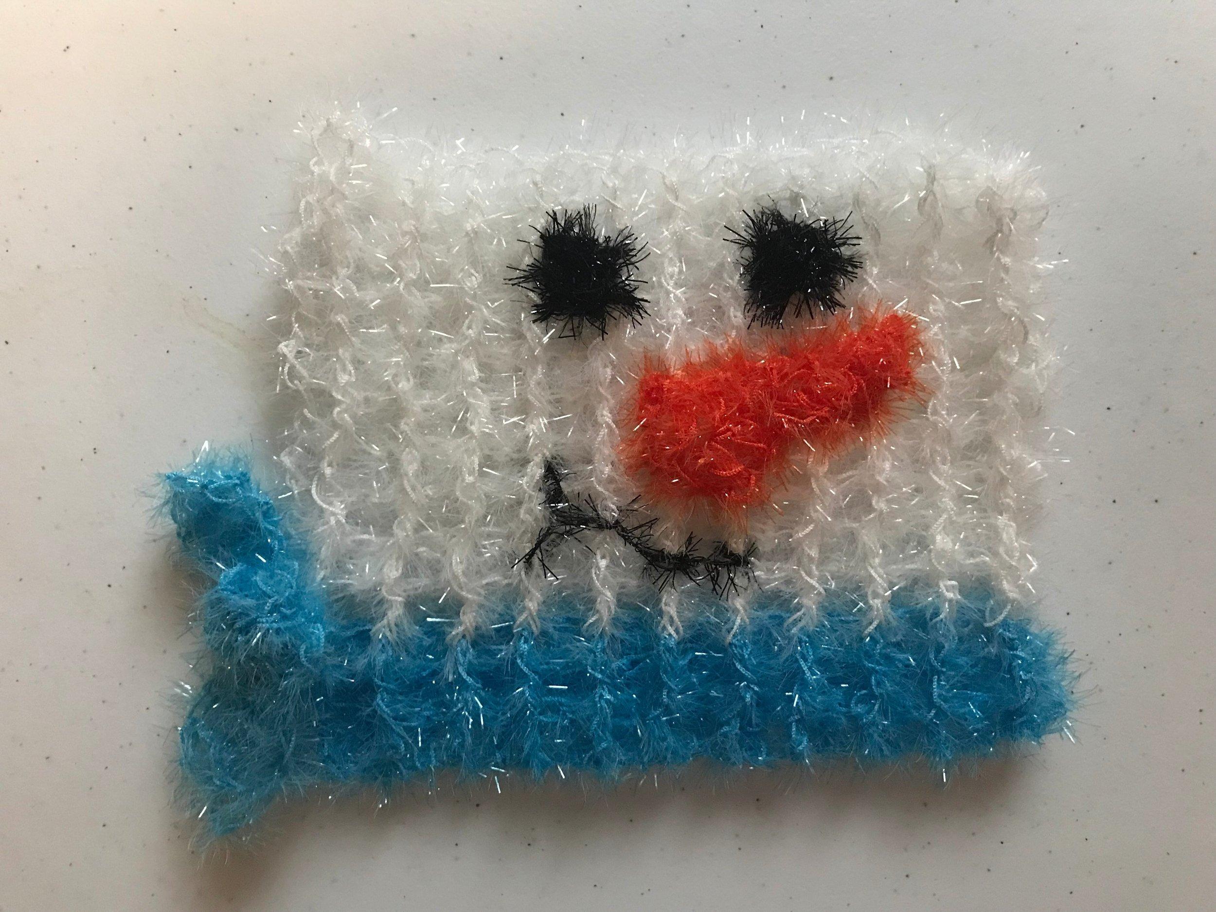 Snow Man Scrubby