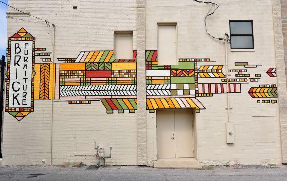 Brick Furniture Mural,  2017.