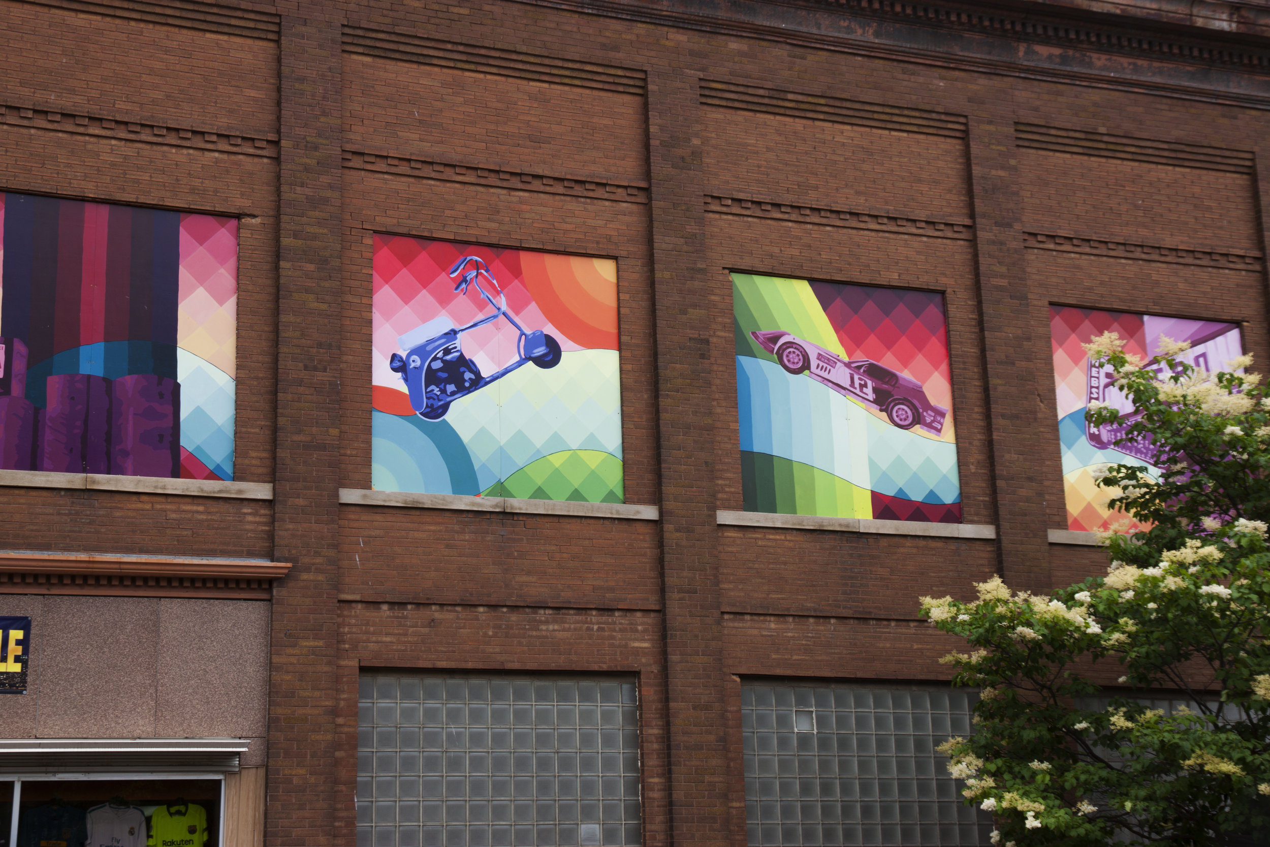 Webster City Town History Mural , Webster City, IA. 12 8'x8' panels.