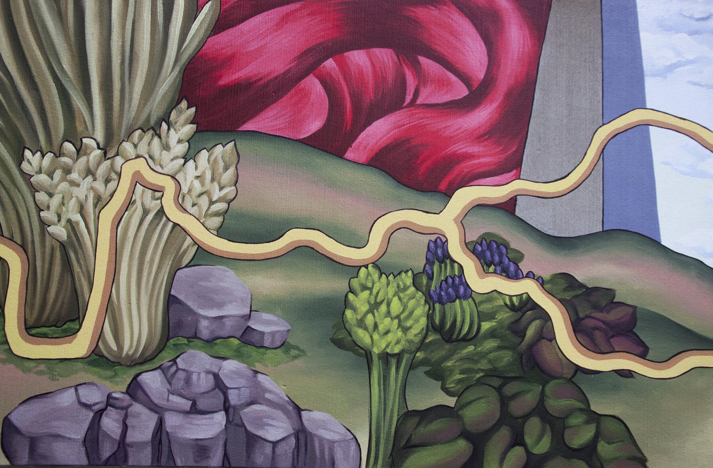 American Discovery Trail Mural , 2019. Cedar Rapids. 75'x35'