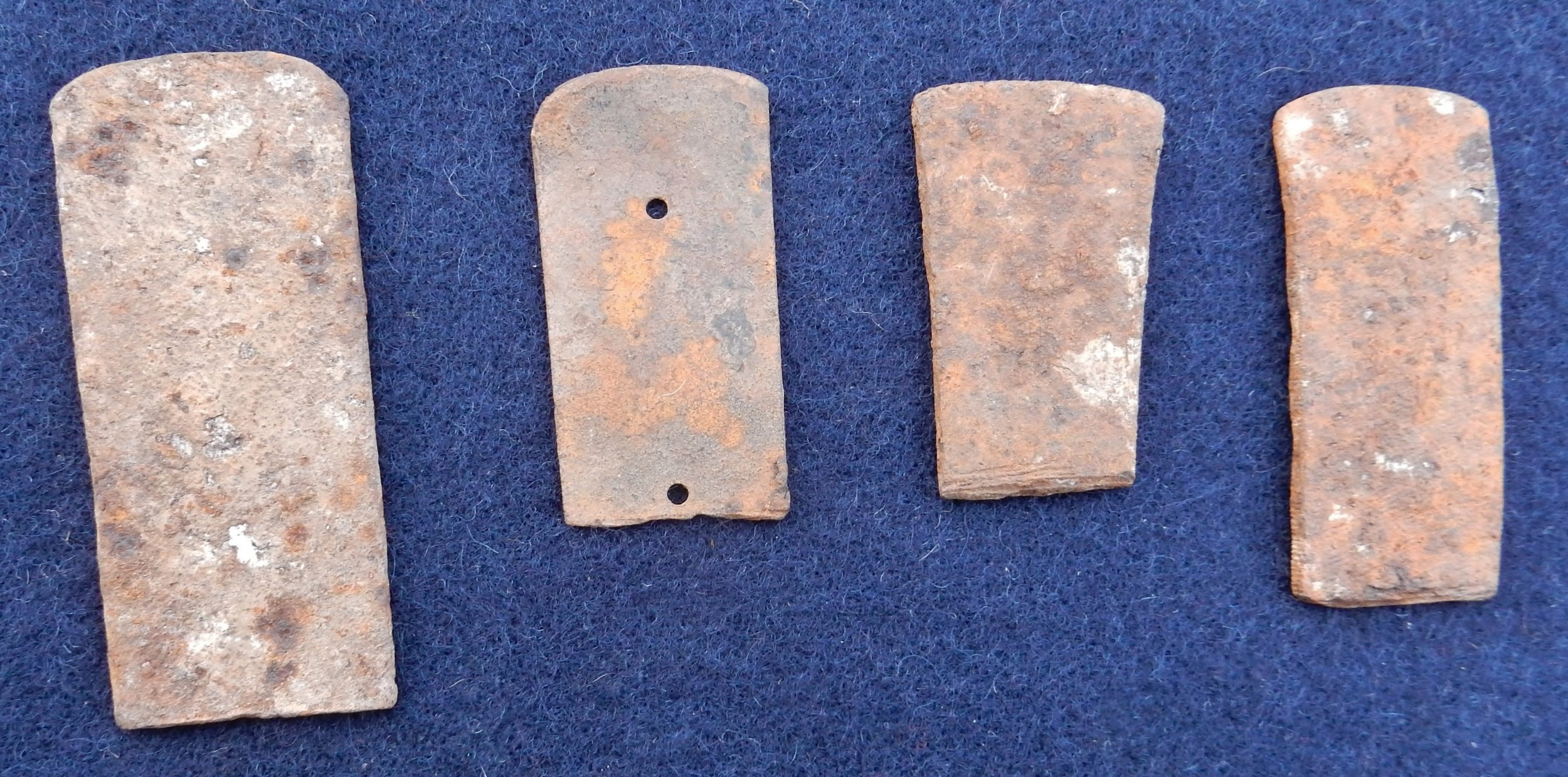 Blades of scrap metal found near Sitting Bull's camp in North Dakota