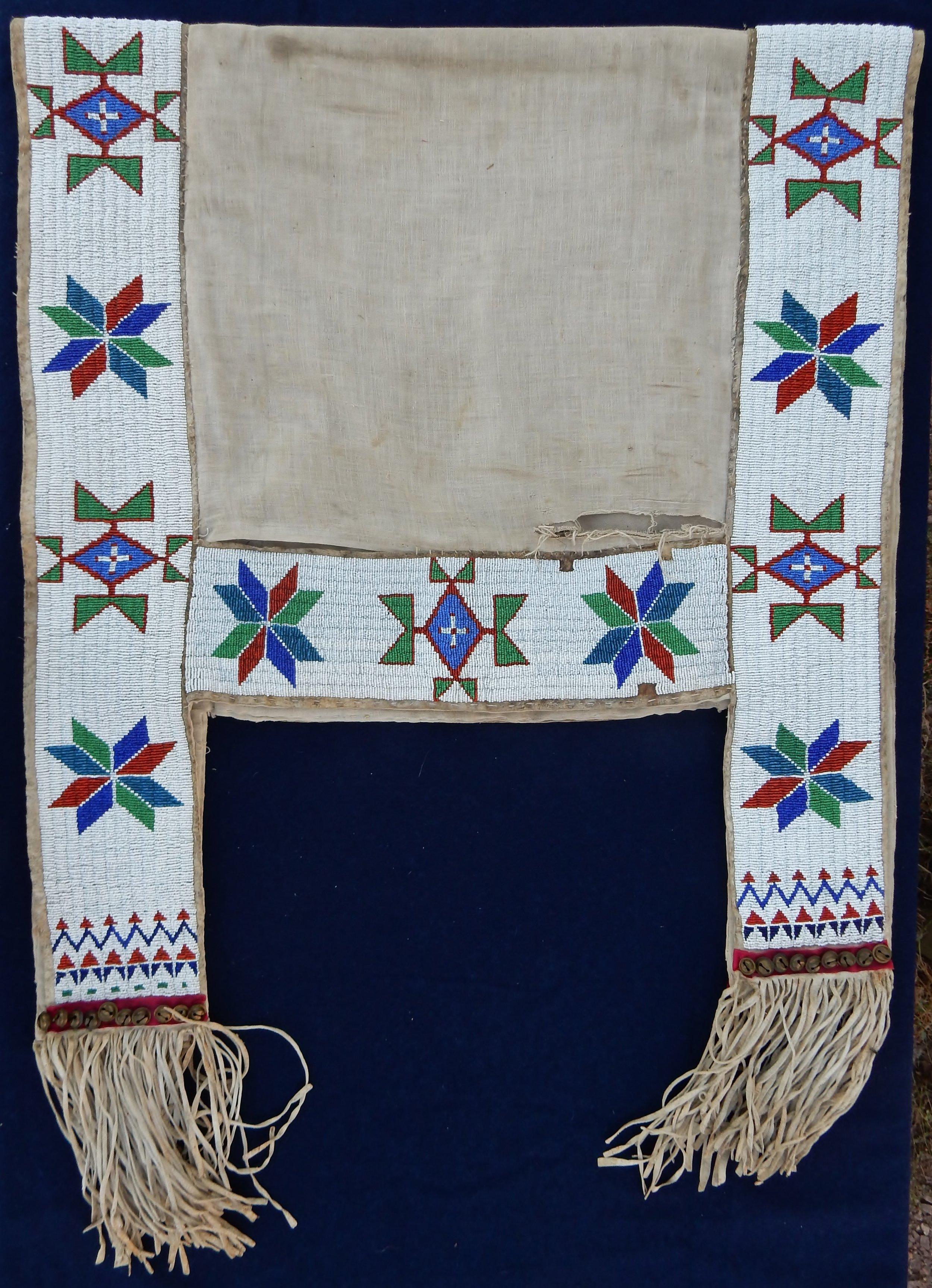 Beaded saddle blanket of Blue Thunder's oldest daughter