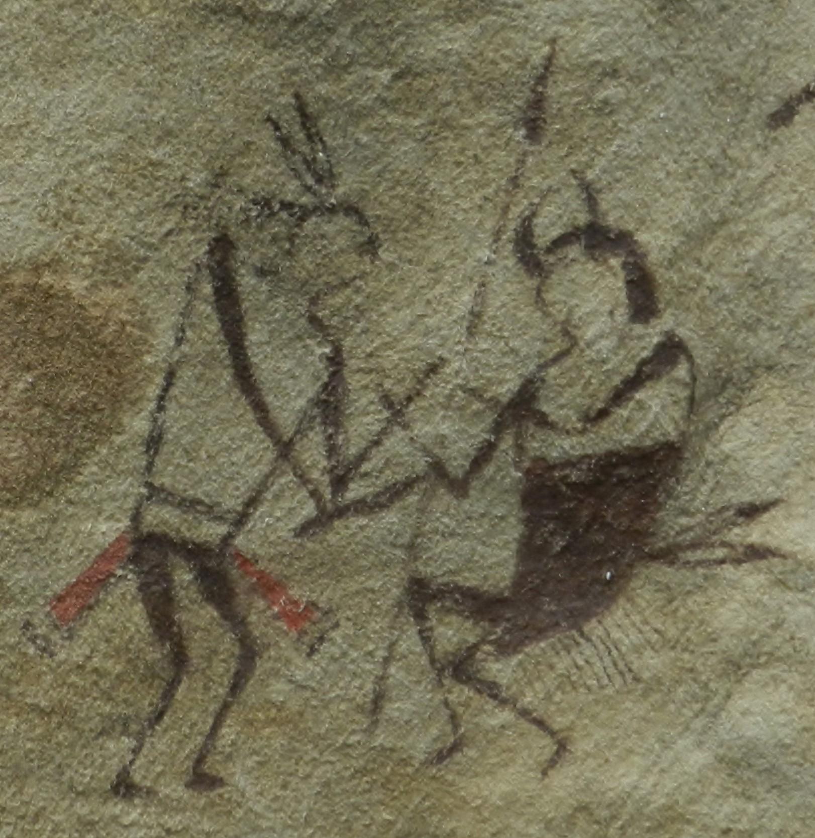 Warrior with buffalo headdress