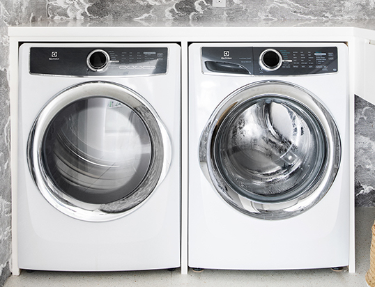 - washer and dryer