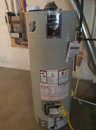 Water heaters look something like this (Above)