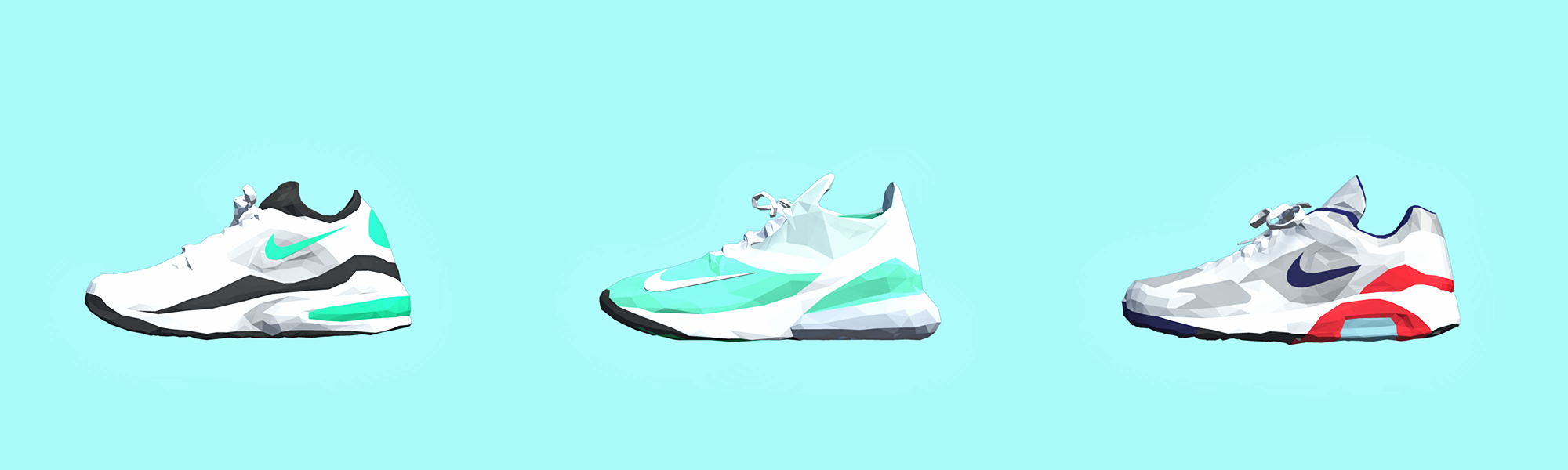 Nike Air Max Low Poly 3D models
