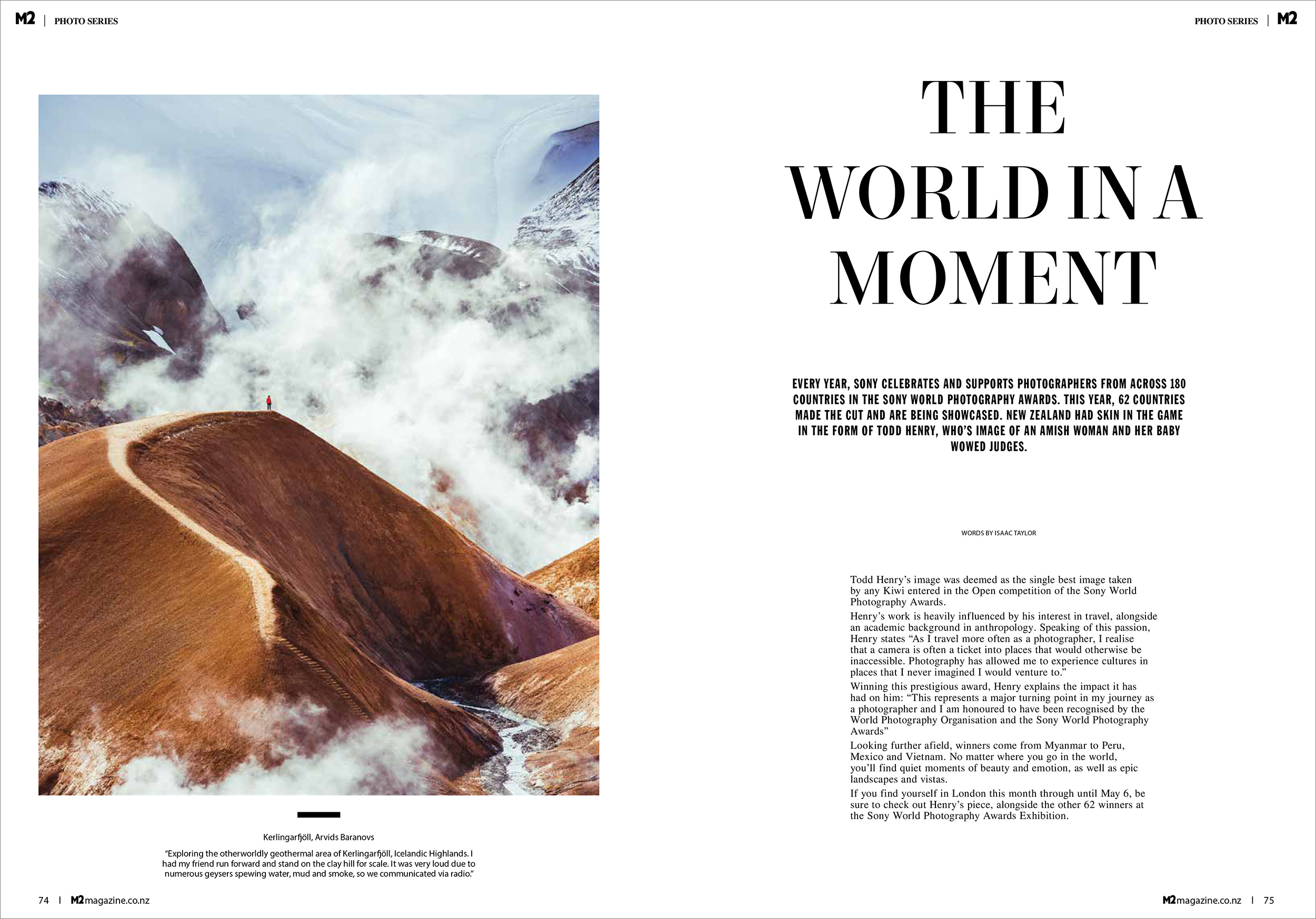 M2 Magazine, New Zealand April 2019   Print   m2magazine.co.nz/the-world-in-a-moment/