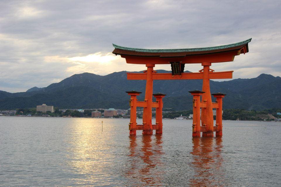 Itsukushima Shrine, Miya-Jima, Hiroshima, was established in the 12th century.