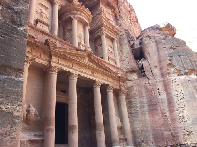 Petra, a historical and archaeological city in southern Jordan.