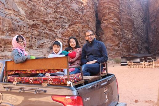 At Wadi Rum Desert in south Jordan