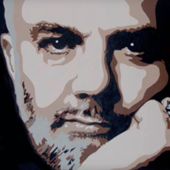 Detail from John Peel portrait from 2004.