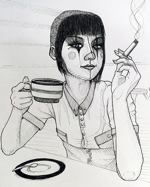 Pen & ink illustration for Russian customer.