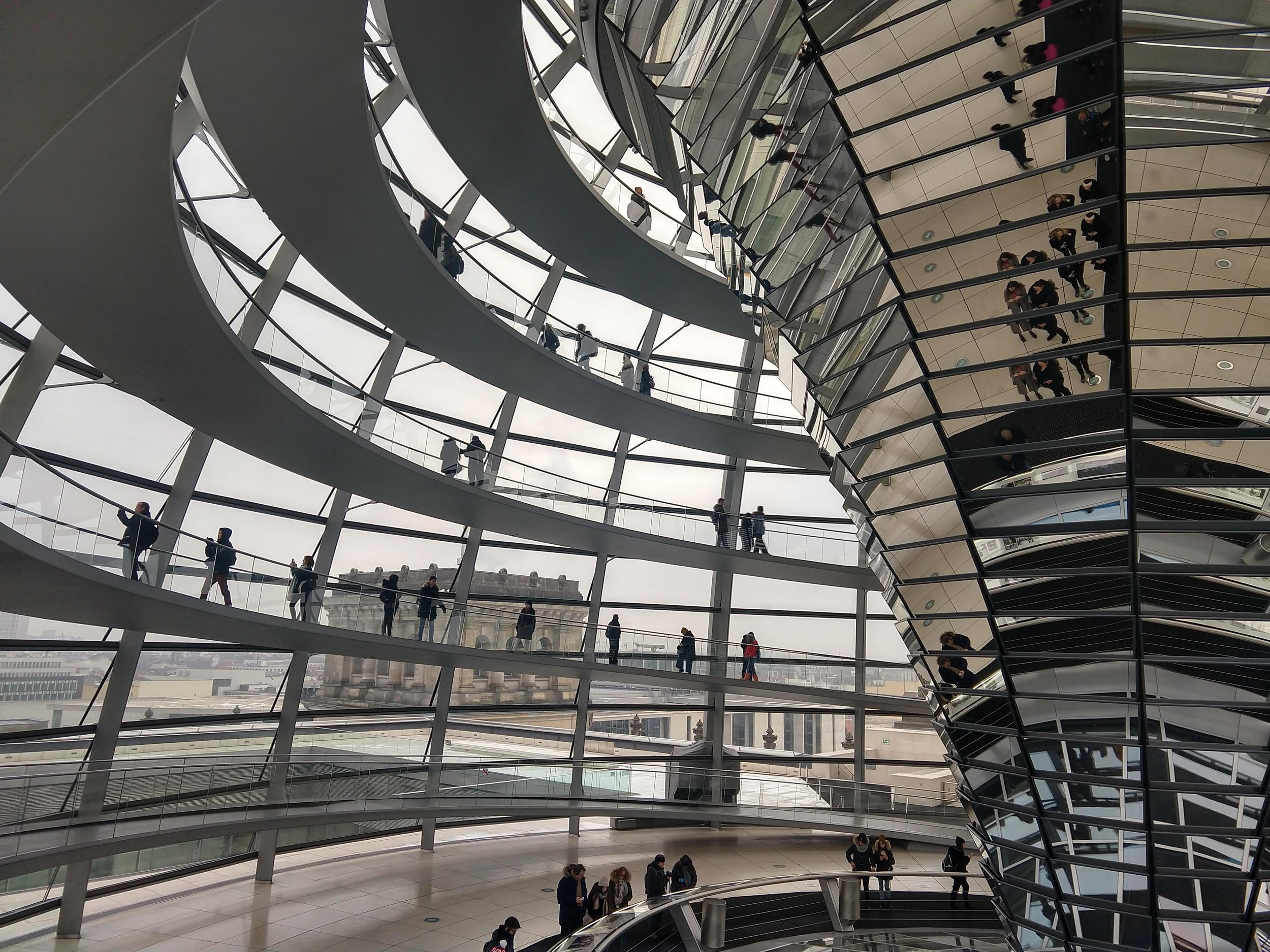 The dome at the Reichstag is cool. The tour of the building is even cooler.
