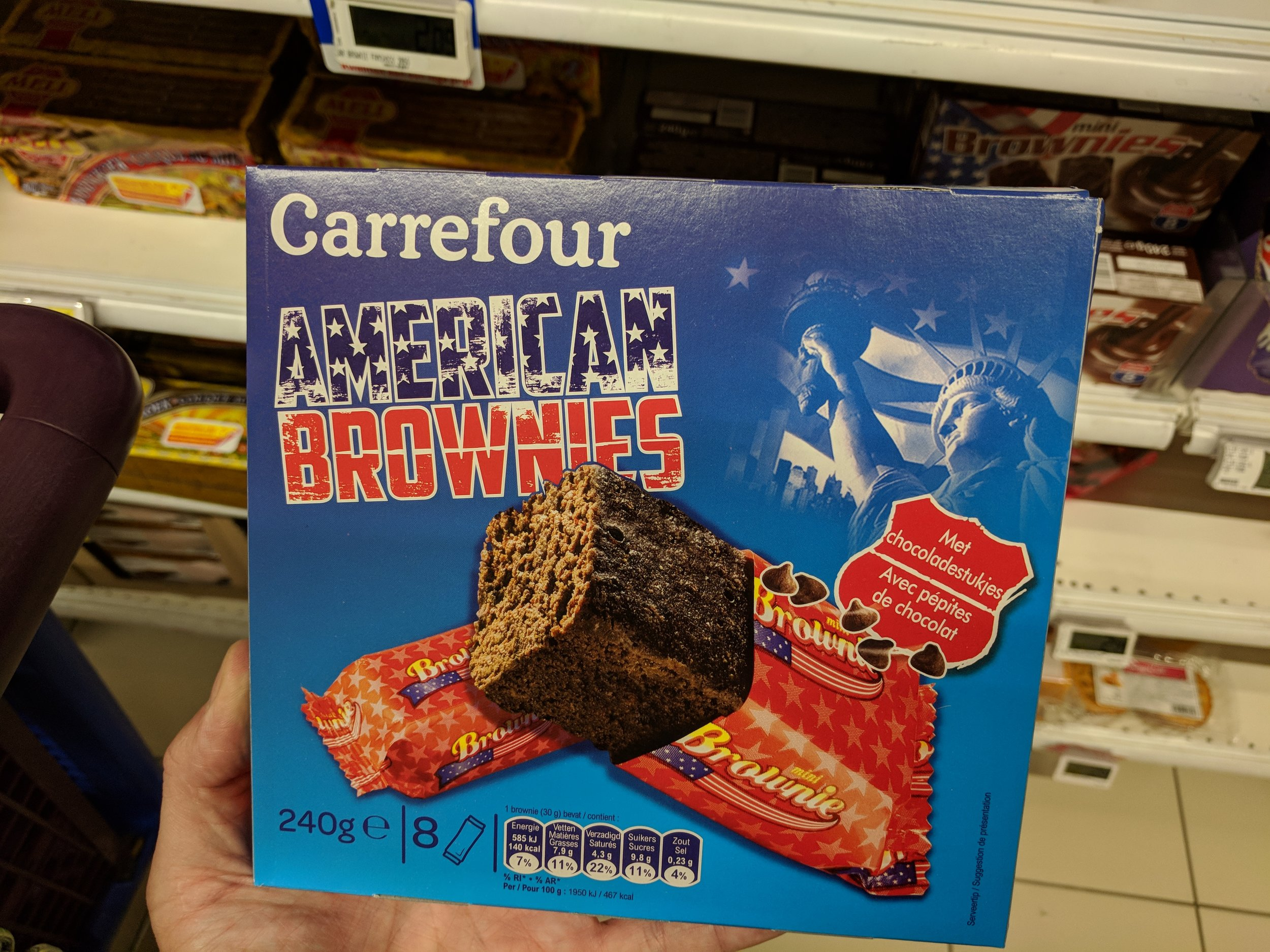 Sometimes grocery shopping is strange here…