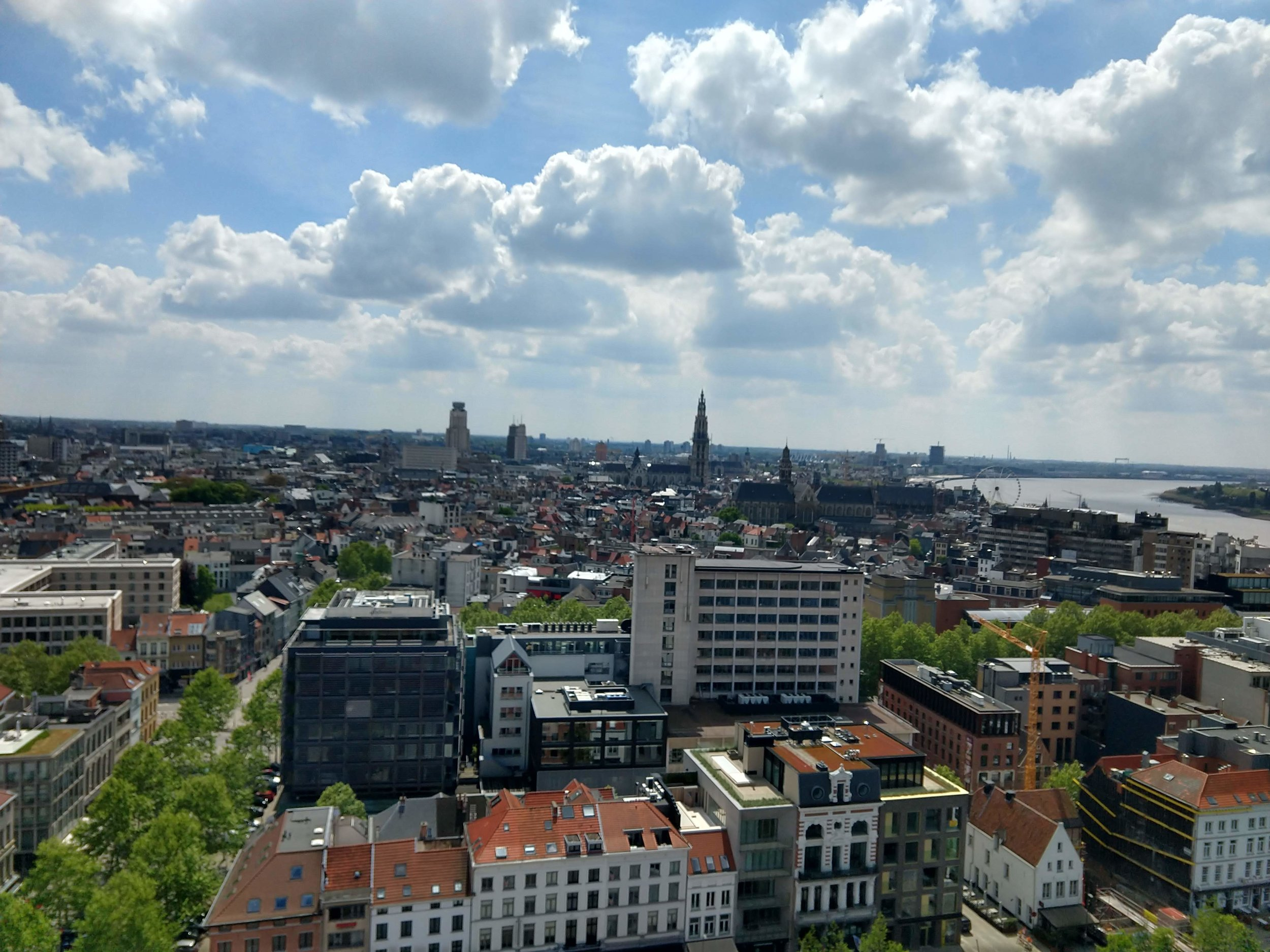 The Museum aan de Stroom (MAS) is a museum located along the river Scheldt. You can climb to its observation deck for free and get a pretty epic view of both the city and the port.