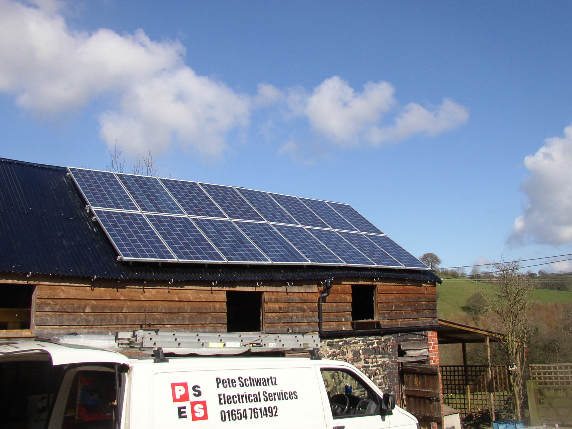 4 kW PV array in Shropshire