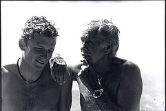 Umberto Pelizzari with mentor Jacques Mayol