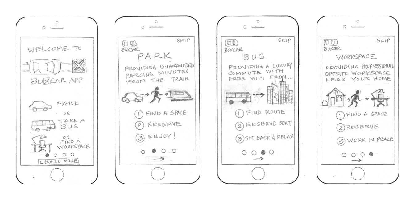 Lo-Fi Sketches for Onboarding