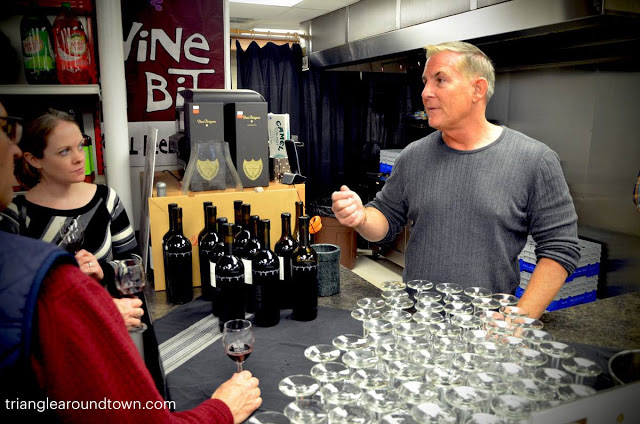 Steve Reynolds of Reynolds Family Vineyards pours at Taylor's Wine Shop in Raleigh.