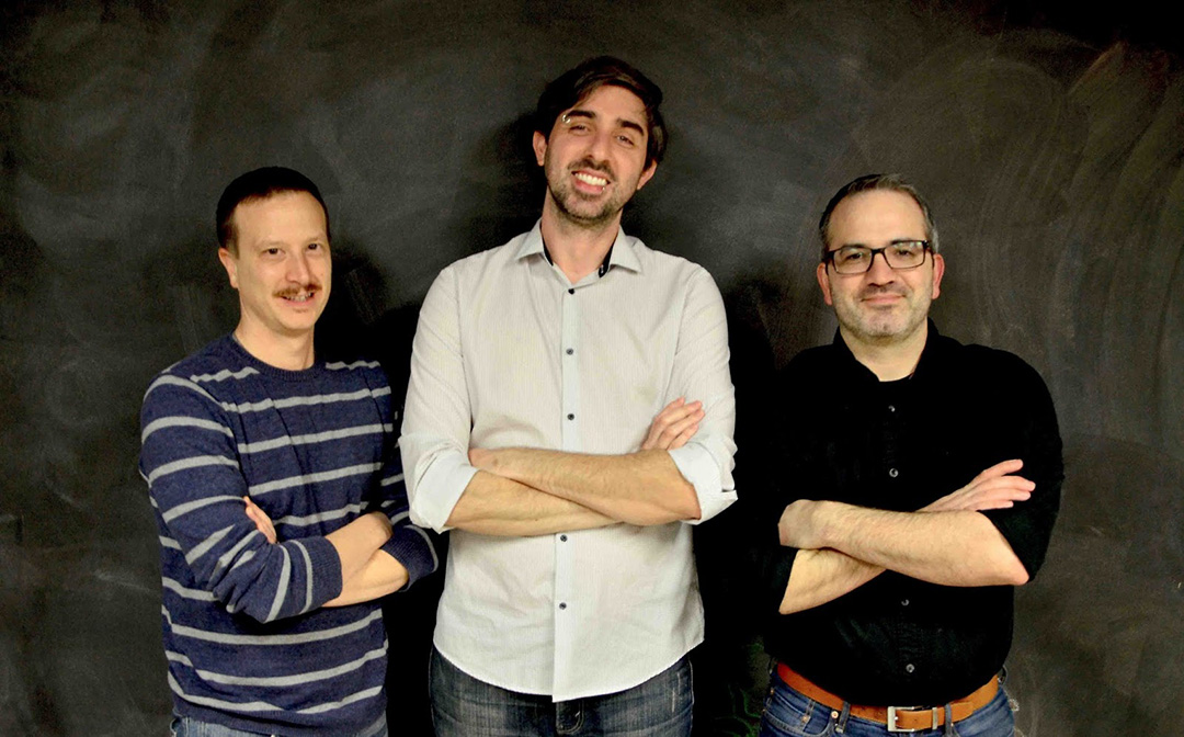 Dead Oak Distillery's Eric Lloyd, Michael Stagner and Corey Brinkmann.