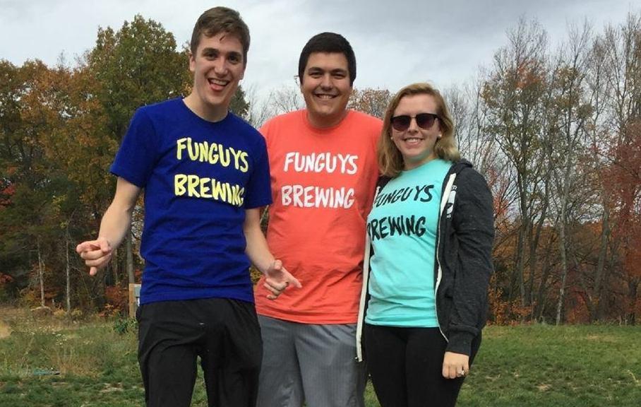 Nick Fiorenzano, Nick Brango and Carly Pina of Funguys Brewing.
