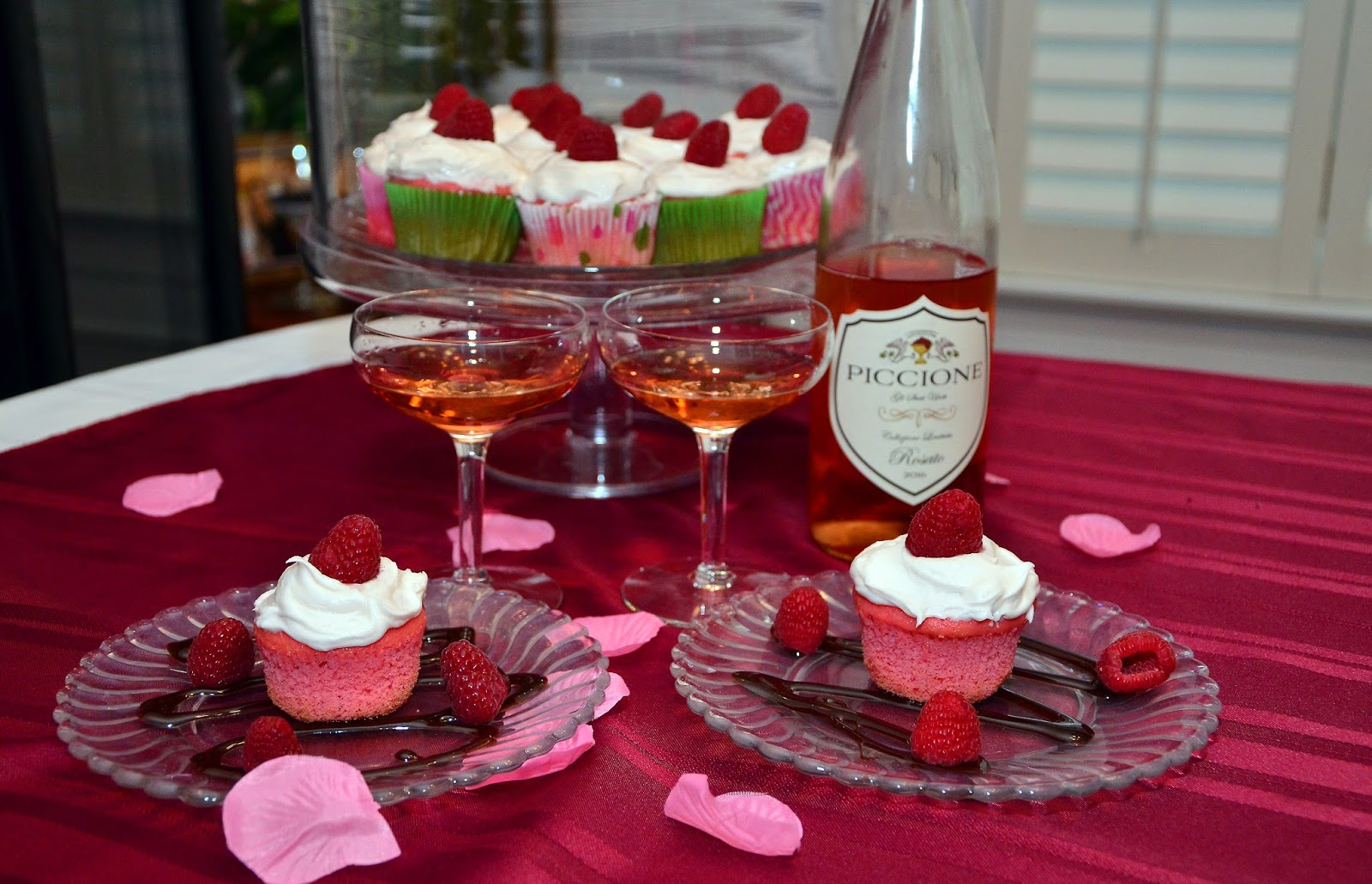Rosé cupcakes paired with Rosé wine is the perfect pairing -