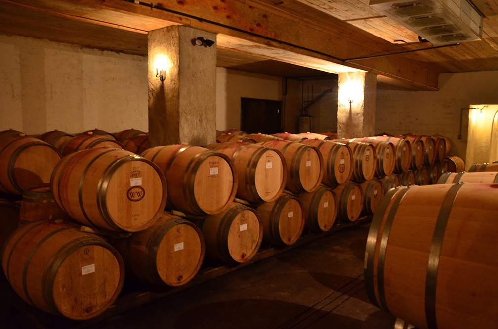 Tours of Williamsburg Winery takes you into the heart of the cellar room.