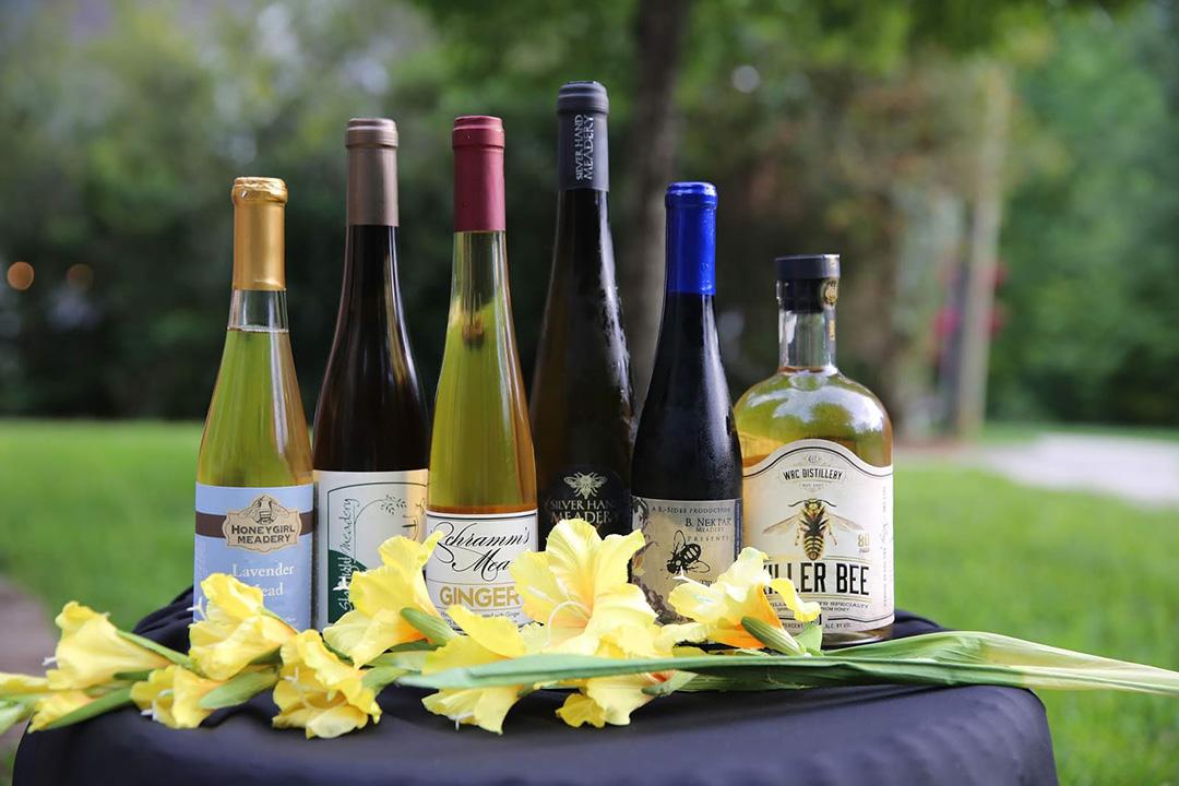 Meads from Honeygirl Meadery, Starrlight Mead, Schramm's Mead, Silver Hand Meadery, B. Nektar and Windsor Run Distillery.