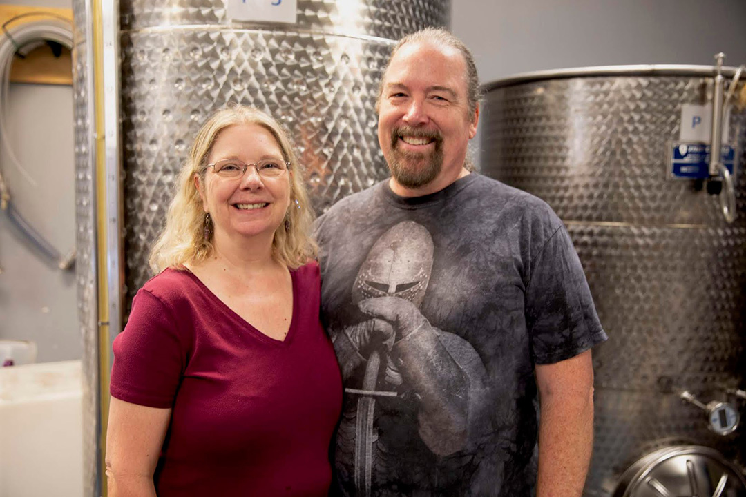 (l-r), Becky and Ben Starr of Pittsboro's Starrlight Mead is getting ready to expand.