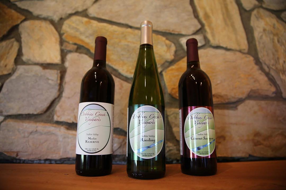 Dobbins Creek Vineyards Top Selling Wines.JPG