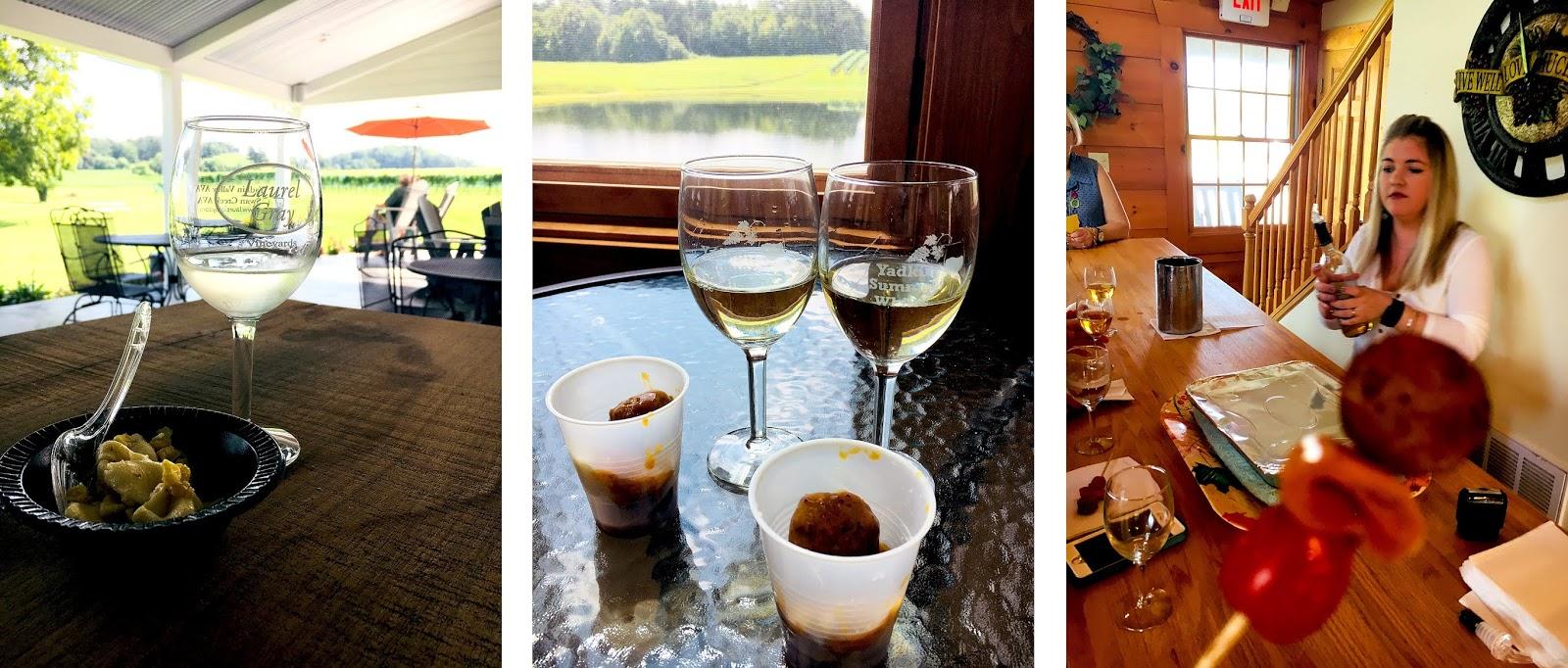 Pairing up wines at Laurel Gray, Shadow Springs and Windsor Run Cellars.