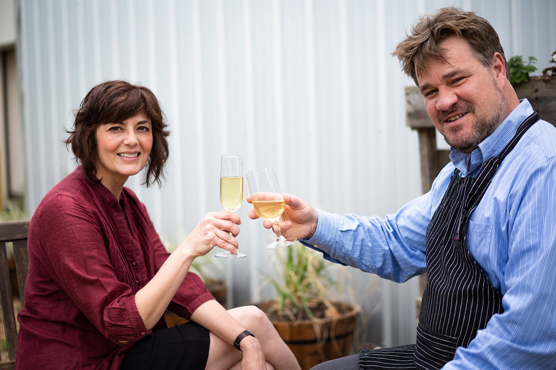 Maureen Ahmad and Jim Crawford of Chatham Cider Works. Photo c/o Chatham Cider Works.